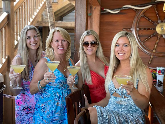 Ladies and our Key Lime Martinis